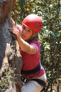 Lizzie rock-climbing - Kya